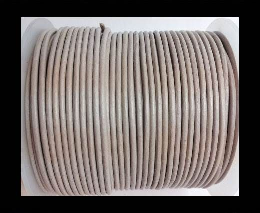 Round leather cord 2mm-LIGHT TAUPE