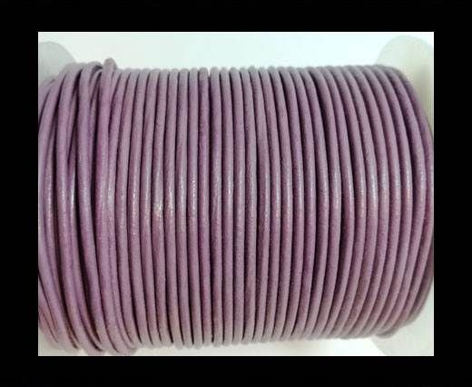 Round leather cord 2mm-PASTEL PURPLE