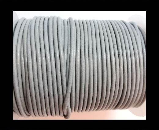 Round Leather Cord-1,5mm-plain-LIGHT GREY