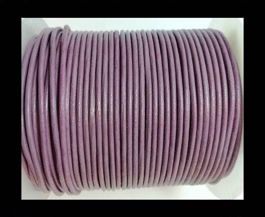 Round Leather Cord-1,5mm-plain-PASTEL PURPLE