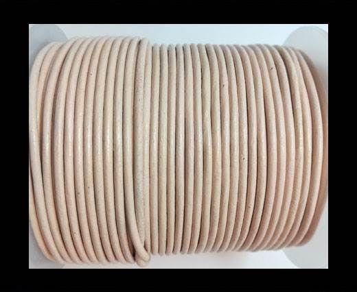 Round Leather Cord-1,5mm-plain-PEACH