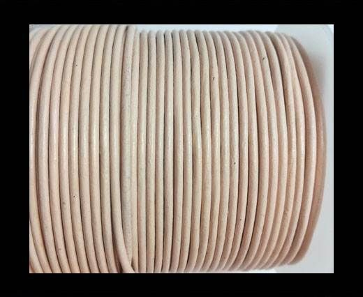 Round Leather Cord -1mm - PASTEL CREAM