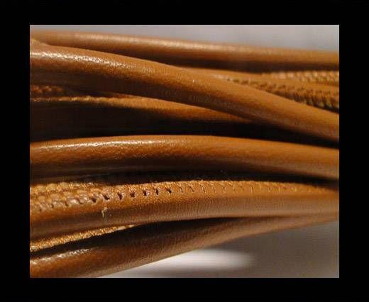Cuir Nappa - 4mm - Snake Style - Acajou brillant