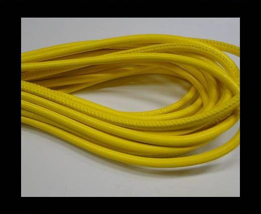 Real Nappa Round Plain Style-6mm-Yellow