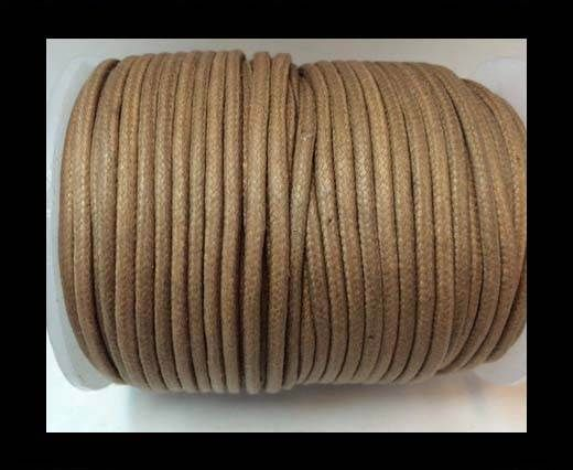 Round Wax Cotton Cords - 3mm  - Peach