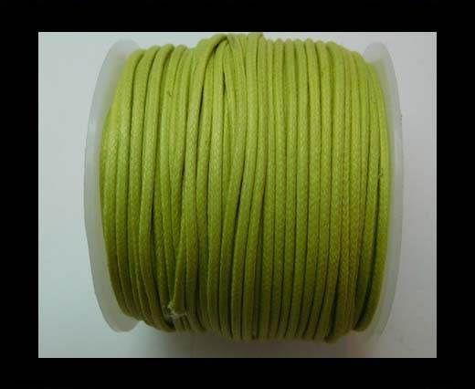 Round Wax Cotton Cords - 2mm - Apple Green