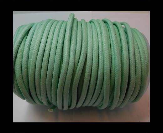 Buy Round Wax Cotton Cords - 3mm - Aquamarine at wholesale price