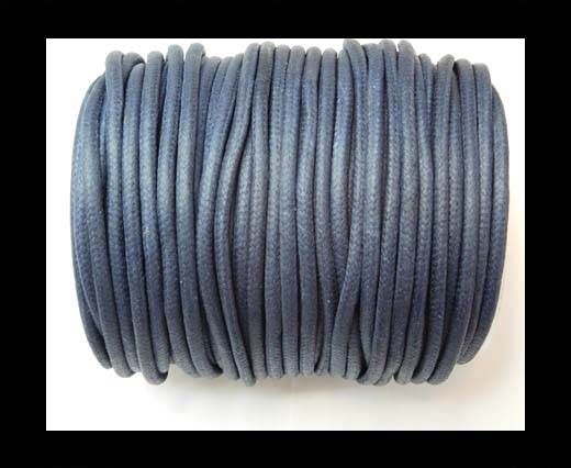 Round Wax Cotton Cords - 3mm - Navy Blue