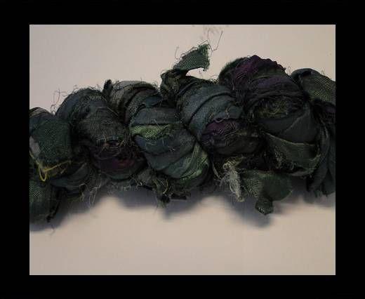 Sari Silk Ribbons-Blue Topaz