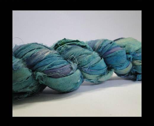 Sari silk ribbons- Lagoon