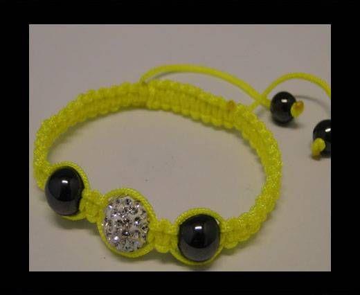 Bracelet Shamballa SB - Cristal - Jaune - Style 4