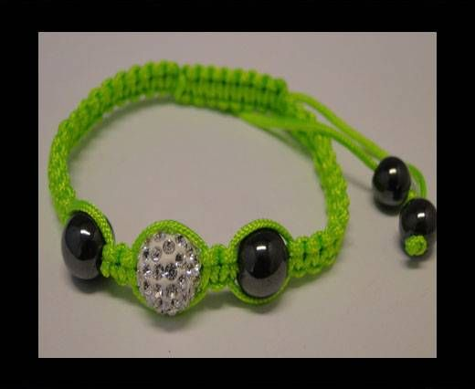 Bracelet Shamballa SB - Cristal - Vert - Style 4