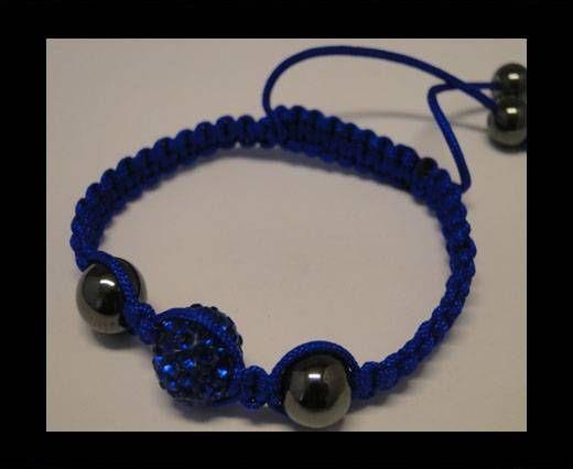 Bracelet Shamballa SB - Bleu saphir - Style 4