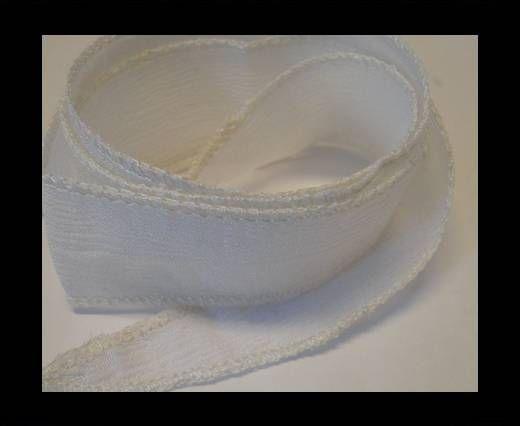 SC- Bande de soie - White