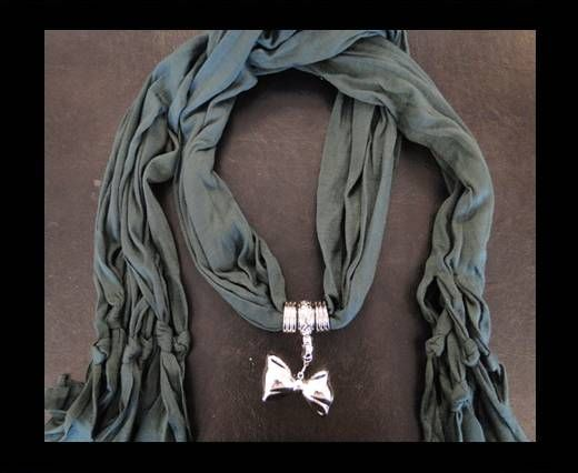 Scarf With Beads Style6-Green