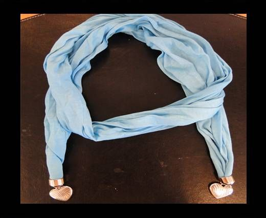 Scarf With Beads Style15-Turquoise