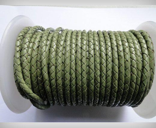Cordon cuir tressé - SE-B-18 - Asparagus 3mm