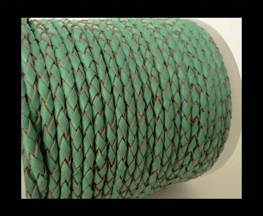 Cordon Cuir tressé SE/B/540 - Mint - 5mm