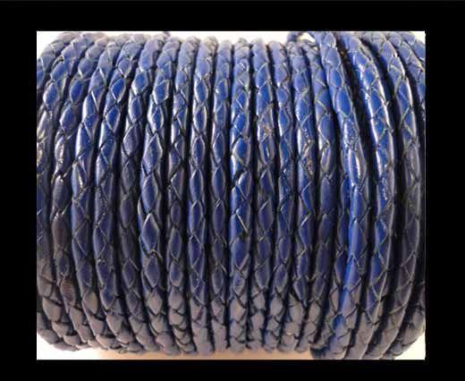 Cordon Cuir tressé - SE/Dark blue - 3mm