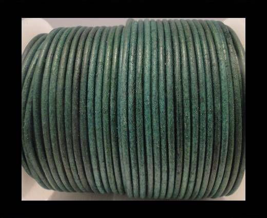 Round Leather Cord SE/R/Matt Finish-Green - 3mm