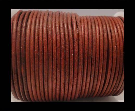 Cordon Cuir Rond SE/R- Vintage Rouge - 3mm