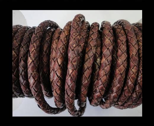 Cordon Cuir tressé - SE/PB/Vintage Copper - 8mm