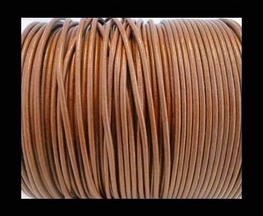 Cordon Cuir Rond SE/R/04 - Chocolat - 2mm