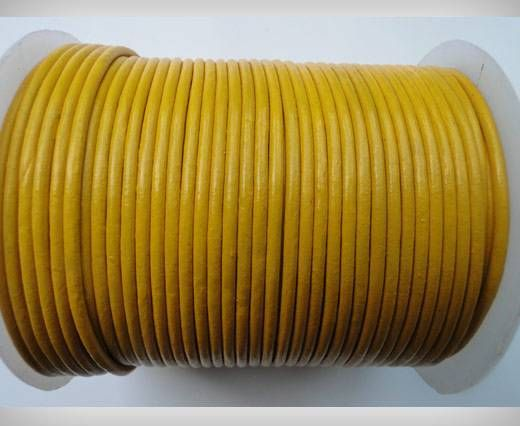 Round Leather Cord SE/R/07-Yellow-3mm