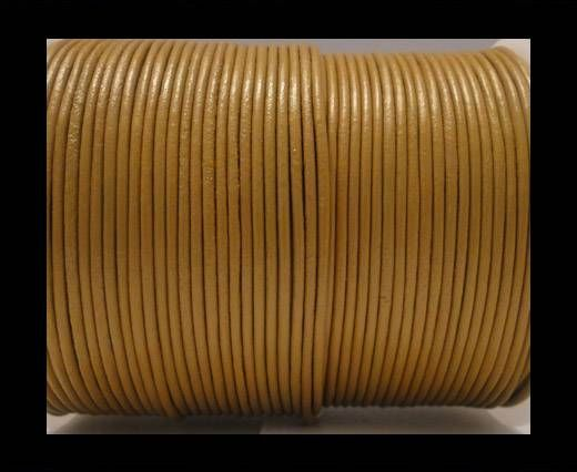 Cordon Cuir Rond SE/R/15 Camel 1,5mm