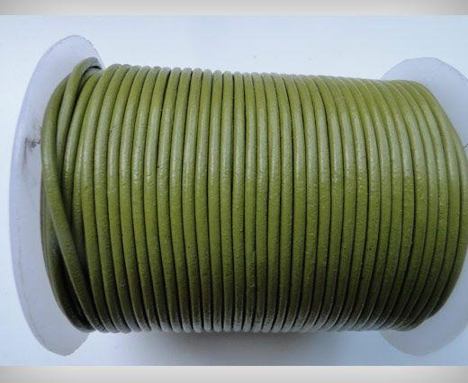 Cordon Cuir Rond SE/R/22 - Vert Pistache- 2mm