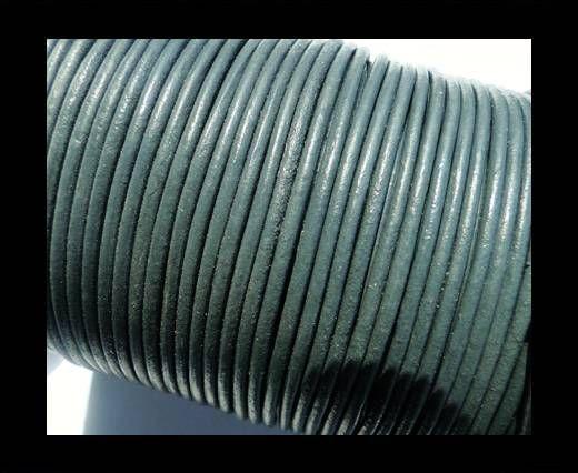Cordon Cuir Rond SE/R- Gris moyen- 3mm