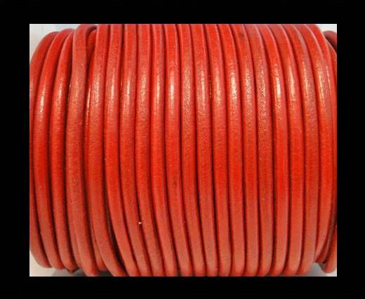 Cordon Cuir Rond SE/R/05 - Rouge - 3mm
