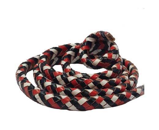 Oval Regaliz braided cords-SERED-BLACK-WHITE