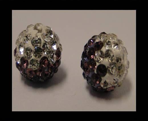 Shamballa - 12mm - Tri améthyste