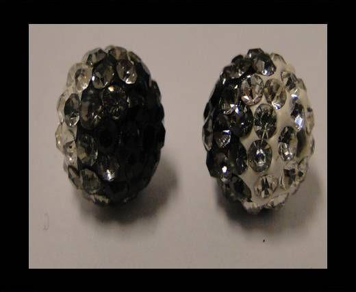 Shamballa - 12mm - Tri quartz noir