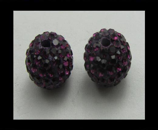 Perle Shamballa - 10mm - Améthyste