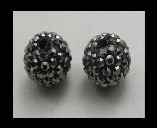 Perle Shamballa - 12mm - Hématite