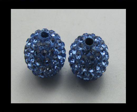 Perle Shamballa - 12mm - Bleu clair