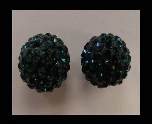 Perle Shamballa - 12mm - Vert fougère