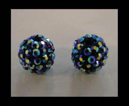 Perle Shamballa - 12mm - Améthyste AB