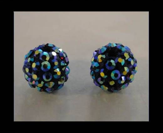 Perle Shamballa - 10mm - Améthyste AB