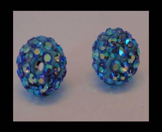 Perle Shamballa - 10mm - Bleu clair AB