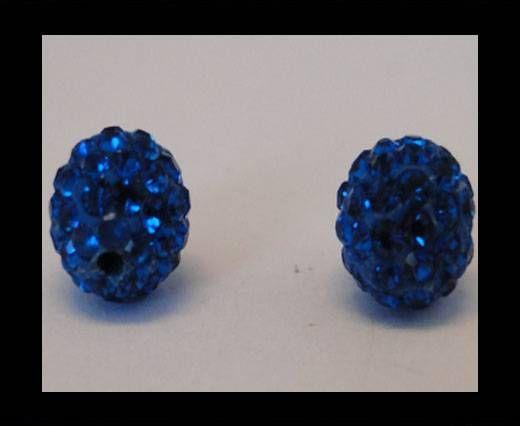 Perle Shamballa - 12mm - Bleu capri