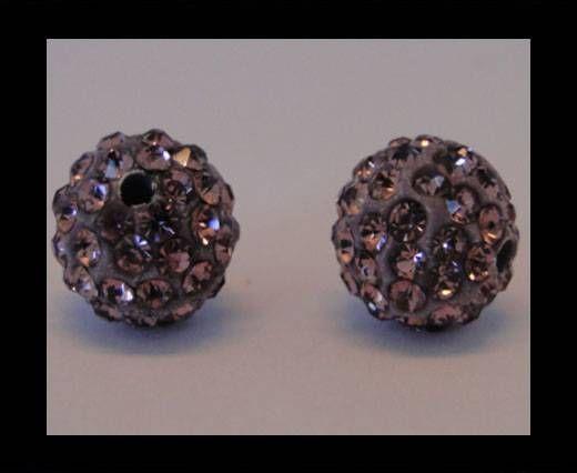 Perle Shamballa - 12mm - Améthyste clair