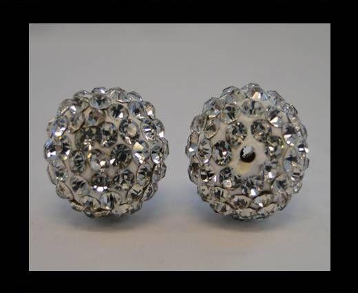 Perle Shamballa - 6mm - Cristal