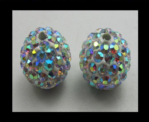 Perle Shamballa - 8mm - Cristal AB