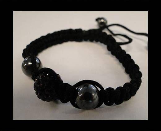 Bracelet Shamballa SB - Améthyste - Style 4