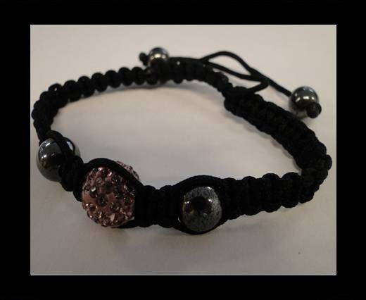 Bracelet Shamballa SB - Rose clair - Style 4