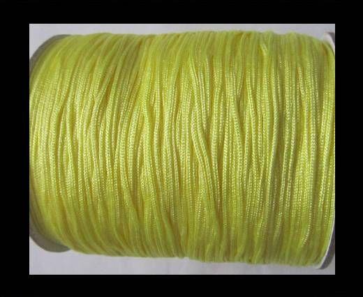 Corde Shamballa - 1mm - Jaune clair