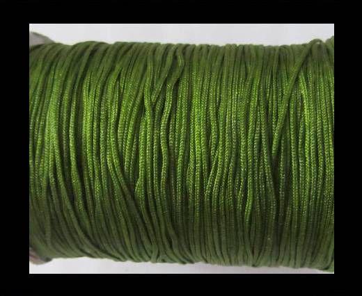 Corde Shamballa - 1mm - Vert foncé
